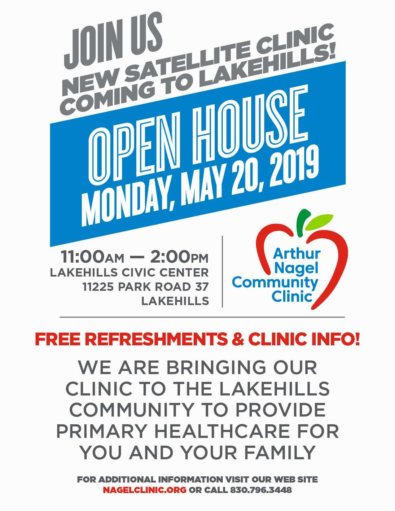 Lakehills Clinic Open House Flyer 8.5X11