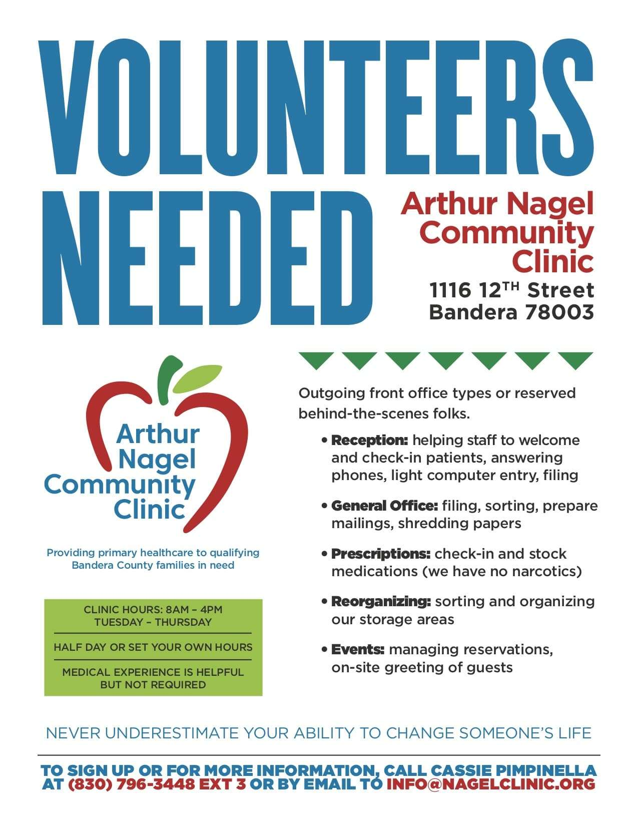 ANCC Volunteer Flyer Spring 2019